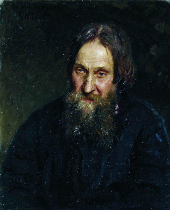 Portrait of Vasily Kirillovitch Syutayev. 1882. Ilya Repin