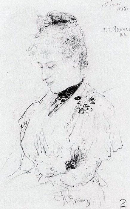 Portrait LN Yakovleva. 1888. Ilya Repin