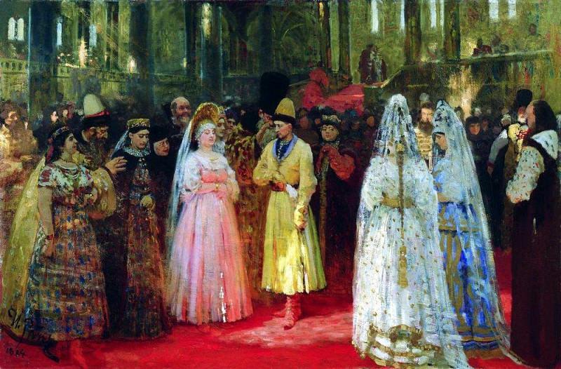 Select tsar (the Grand Dukes) fiancee. 1884-1887. Ilya Repin