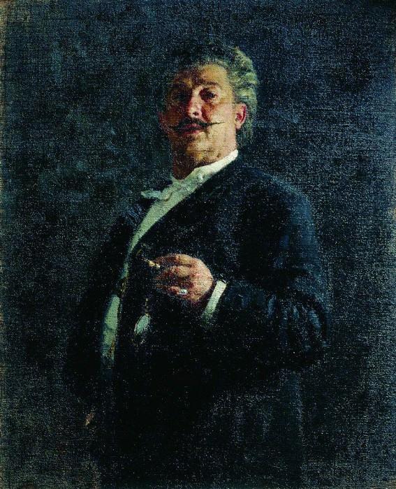 Portrait MO Mikeshin. 1888. Ilya Repin