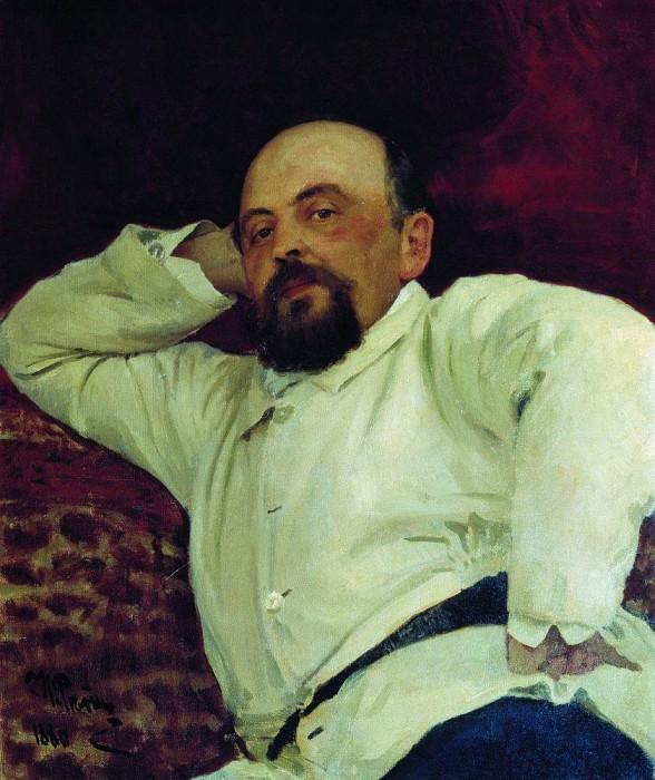 Portrait of S. Mamontov. 1880. Ilya Repin