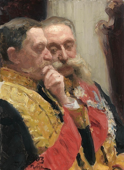 Portrait of I.L. Goremykin and N.N. Gerard, members of the State Council. Ilya Repin