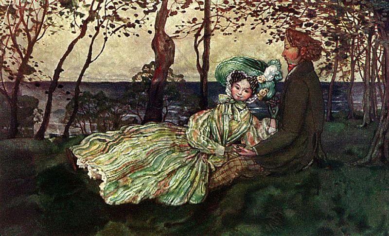 Idyll. 1905. Konstantin Andreevich (1869-1939) Somov