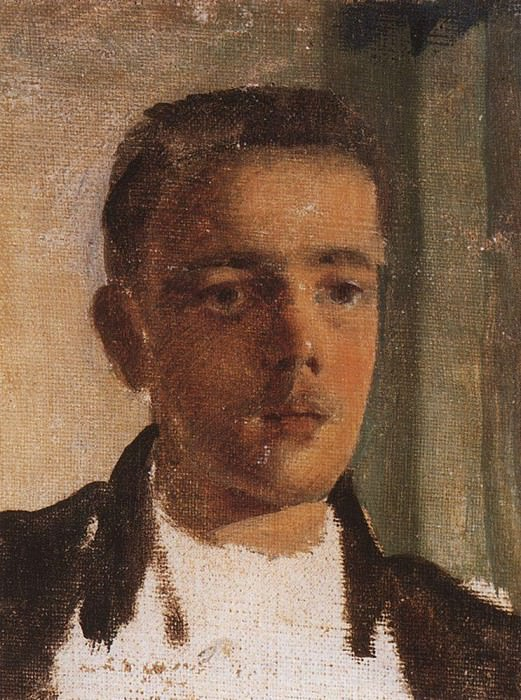 Portrait of NF Ober. 1896. Konstantin Andreevich (1869-1939) Somov