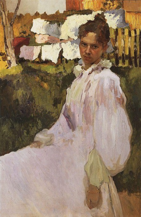 Портрет Н. Ф. Обер. 1896. Сомов Константин Андреевич (1869-1939)