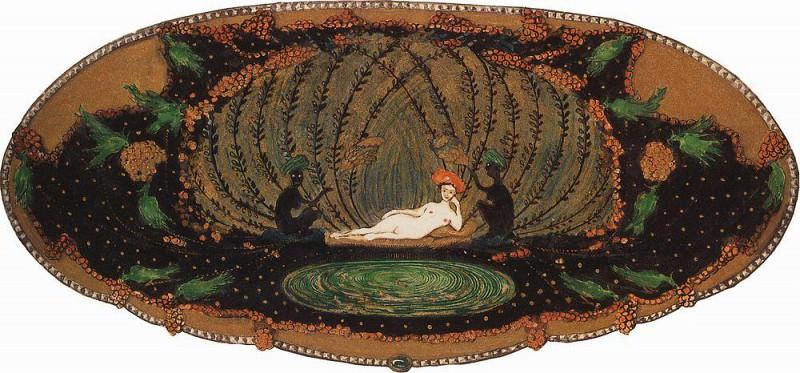Sleeping lady from hell. 1906. Konstantin Andreevich (1869-1939) Somov