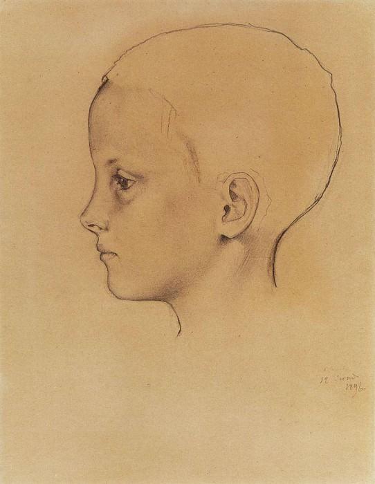 Girl Olya1. 1896. Konstantin Andreevich (1869-1939) Somov