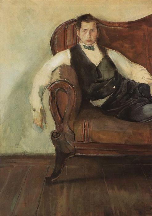 Self-portrait. 1898. Konstantin Andreevich (1869-1939) Somov