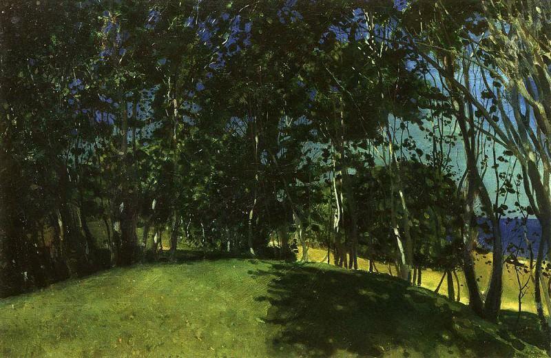 walk after dozhdya2. 1896. Konstantin Andreevich (1869-1939) Somov