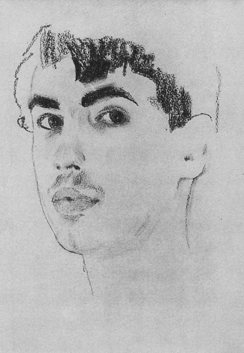 Portrait of the poet Mikhail Kuzmin. 1909. Konstantin Andreevich (1869-1939) Somov
