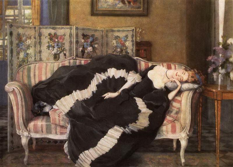Cecile de Volanzh. 1934. Konstantin Andreevich (1869-1939) Somov