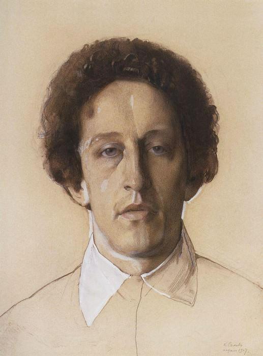 Портрет А. А. Блока. 1907. Сомов Константин Андреевич (1869-1939)