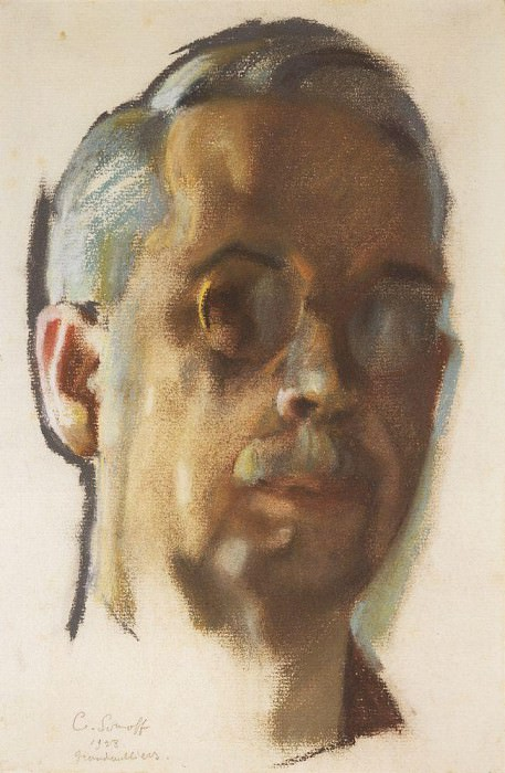 Self-portrait. 1928. Konstantin Andreevich (1869-1939) Somov