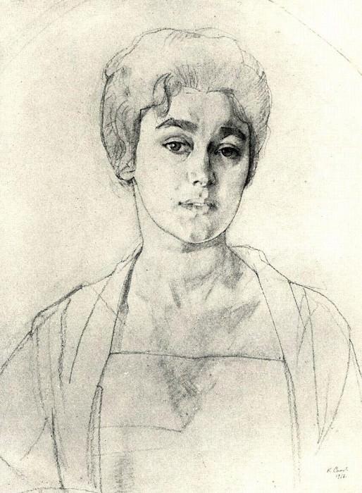Portrait MVDobuzhinsky. 1910. Konstantin Andreevich (1869-1939) Somov