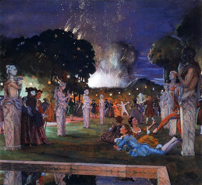Праздник в окрестностях Венеции. 1930. Сомов Константин Андреевич (1869-1939)
