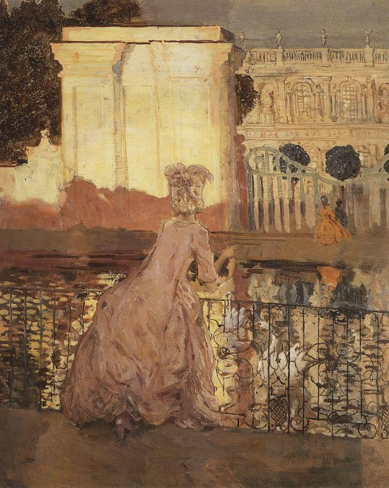 lady in the pond. 1896. Konstantin Andreevich (1869-1939) Somov