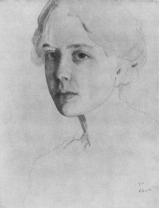 Portrait of the writer and poet, VI Ivanov. 1906. Konstantin Andreevich (1869-1939) Somov