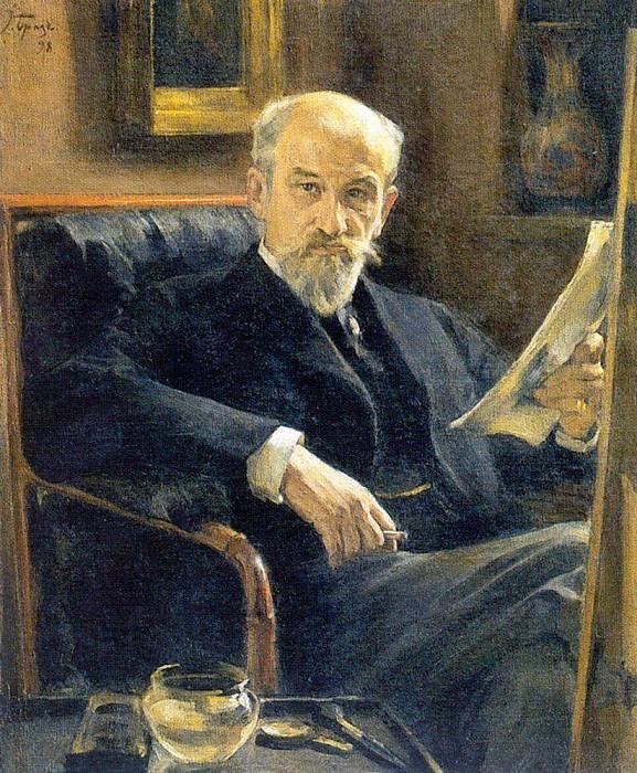Portrait AP Ostroumova - Lebedeva. 1909. Konstantin Andreevich (1869-1939) Somov