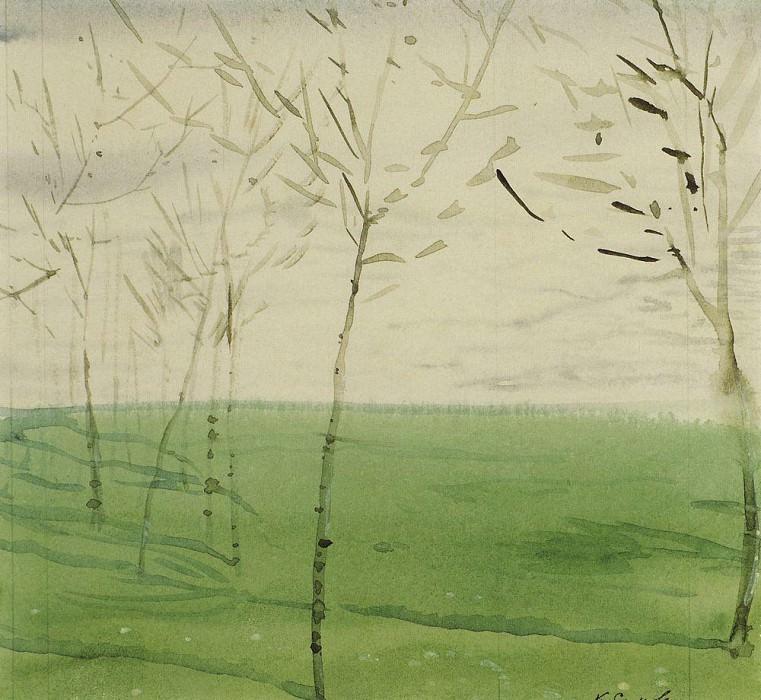 Spring landscape. 1910. Konstantin Andreevich (1869-1939) Somov