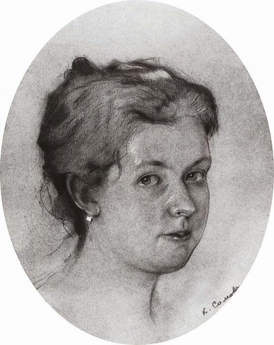 Портрет А. А. Сомовой- Михайловой. 1897. Сомов Константин Андреевич (1869-1939)