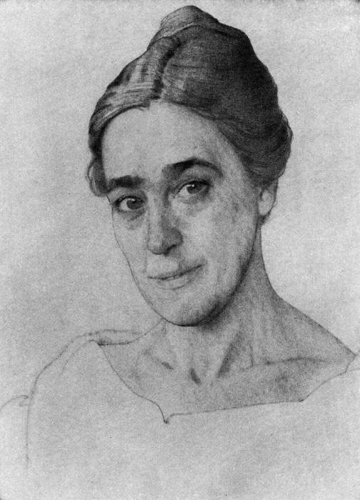 Portrait MG Lukyanov. 1918. Konstantin Andreevich (1869-1939) Somov