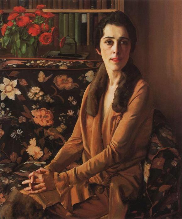 Portrait EP Olive. 1914. Konstantin Andreevich (1869-1939) Somov