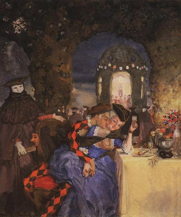 Галантная сцена (В саду). 1918. Сомов Константин Андреевич (1869-1939)