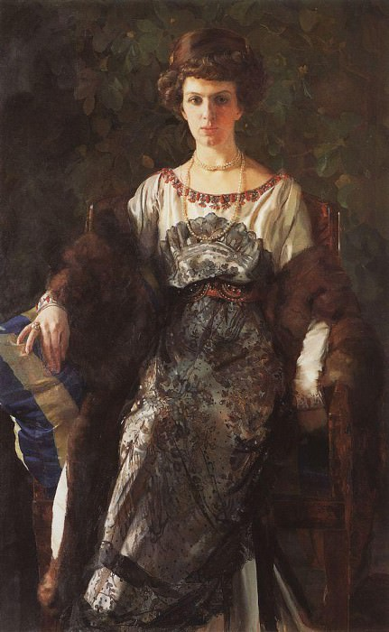 Портрет Е. П. Носовой. 1911. Сомов Константин Андреевич (1869-1939)