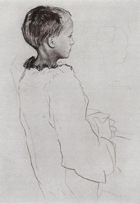 Girl Olya2. 1896. Konstantin Andreevich (1869-1939) Somov