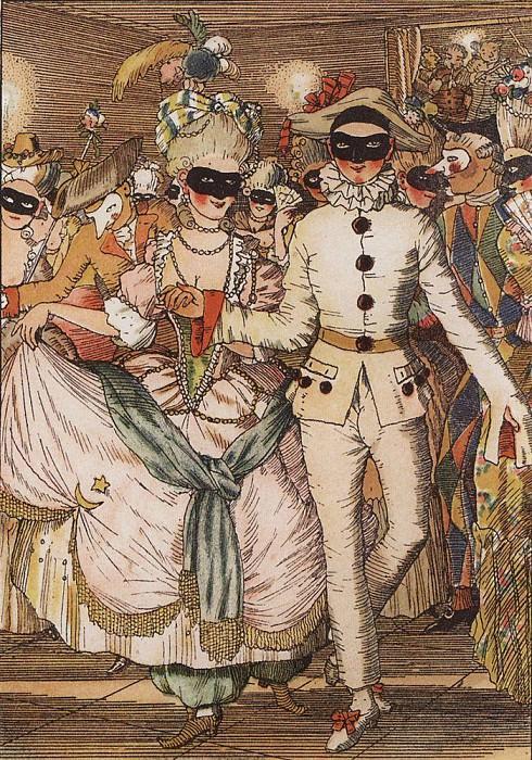 Книга маркизы. Иллюстрация8. 1918. Сомов Константин Андреевич (1869-1939)