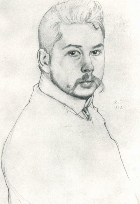 Self-portrait. 1902. Konstantin Andreevich (1869-1939) Somov
