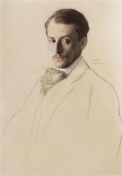 Portrait of Andrei Ivanovich Somov. 1897. Konstantin Andreevich (1869-1939) Somov