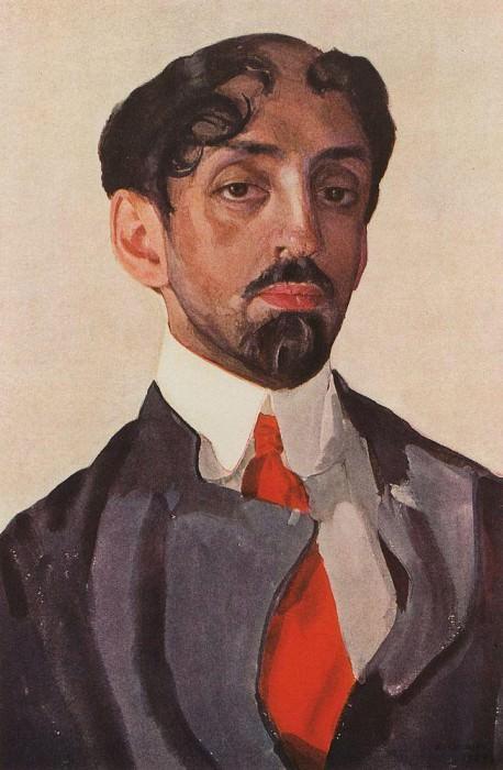 Portrait EP Ostroumova. 1904. Konstantin Andreevich (1869-1939) Somov