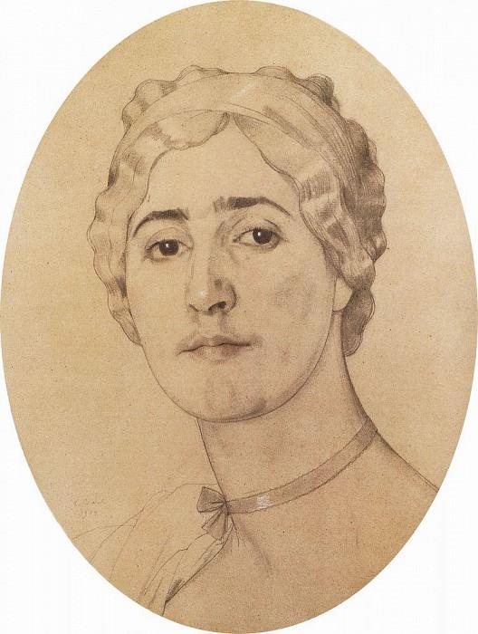 Портрет Д. Г. Карышевой. 1914. Сомов Константин Андреевич (1869-1939)