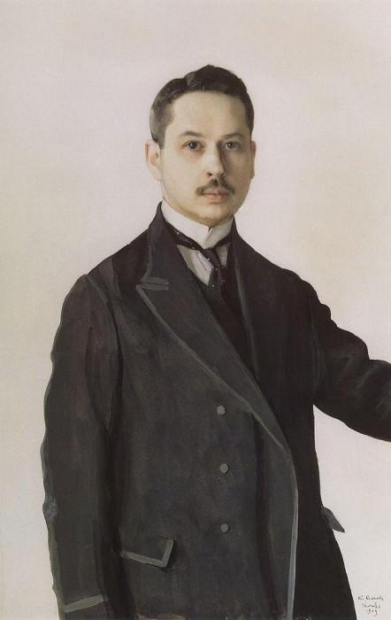 Self-portrait. 1909. Konstantin Andreevich (1869-1939) Somov