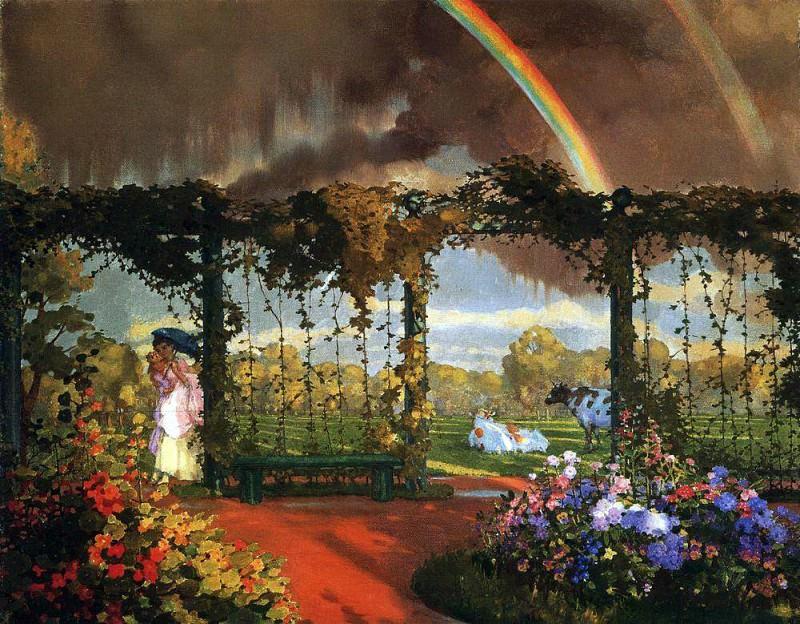 Arable. 1900. Konstantin Andreevich (1869-1939) Somov