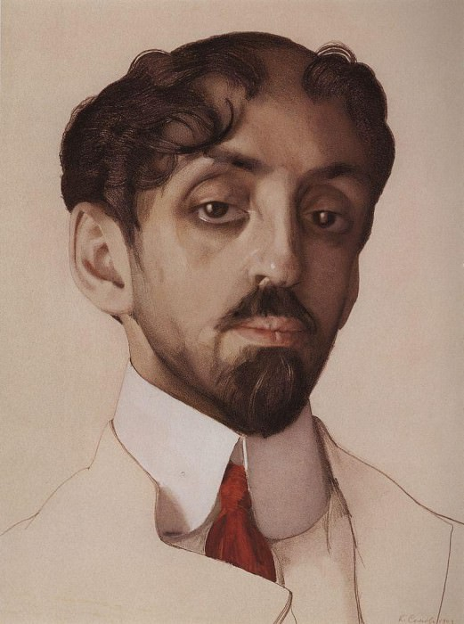 Portrait NG Vysotsky. 1917. Konstantin Andreevich (1869-1939) Somov