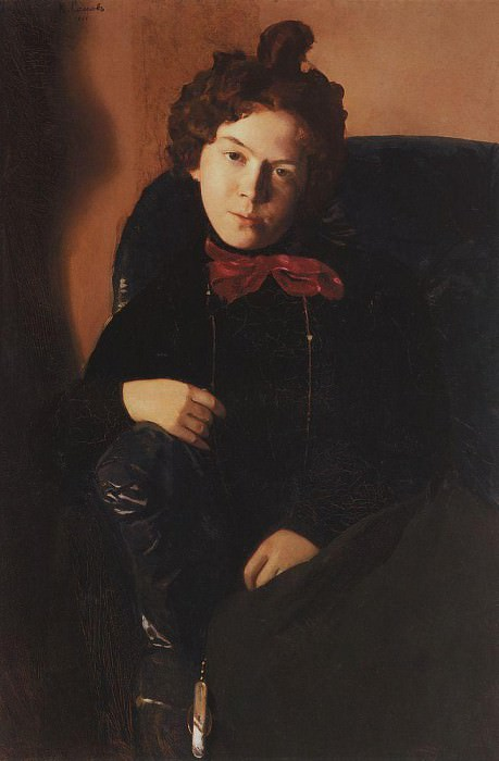 Портрет А. П. Остроумовой. 1901. Сомов Константин Андреевич (1869-1939)