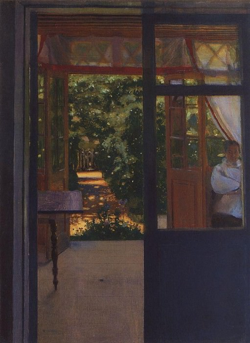 Ludmila in the garden Chernomor. On the subject of the poem of Pushkins Ruslan and Lyudmila. 1897. Konstantin Andreevich (1869-1939) Somov