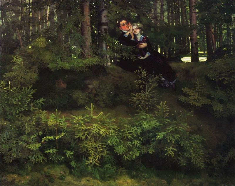 In the woods. 1914. Konstantin Andreevich (1869-1939) Somov