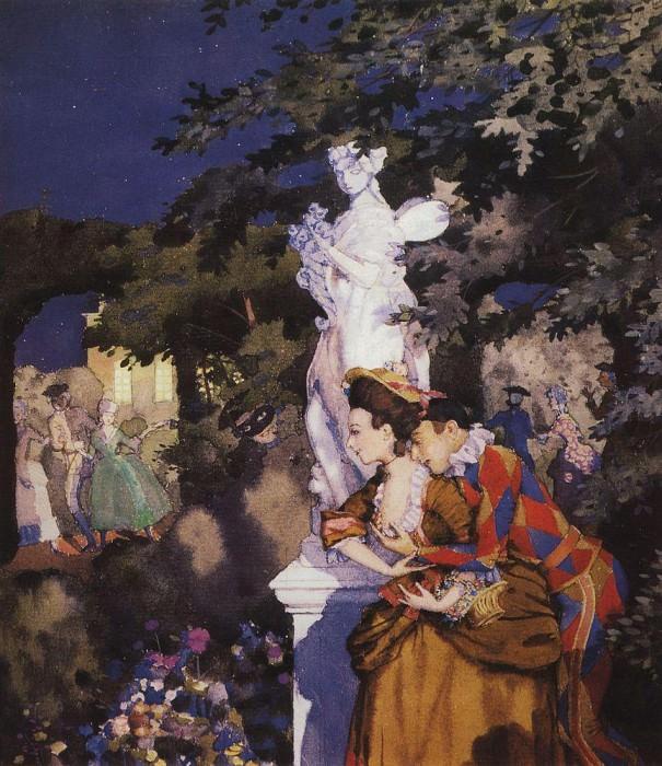 Love Harlequin. 1912. Konstantin Andreevich (1869-1939) Somov