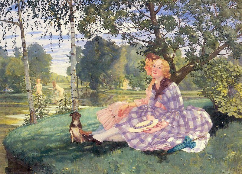 Summer morning. 1932. Konstantin Andreevich (1869-1939) Somov