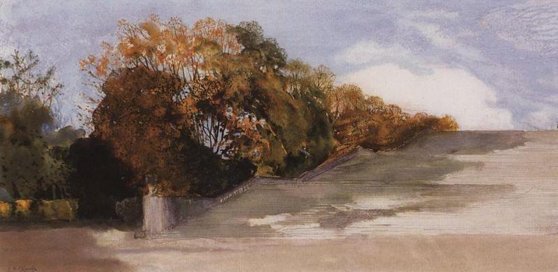 В Версальском парке. 1897. Сомов Константин Андреевич (1869-1939)
