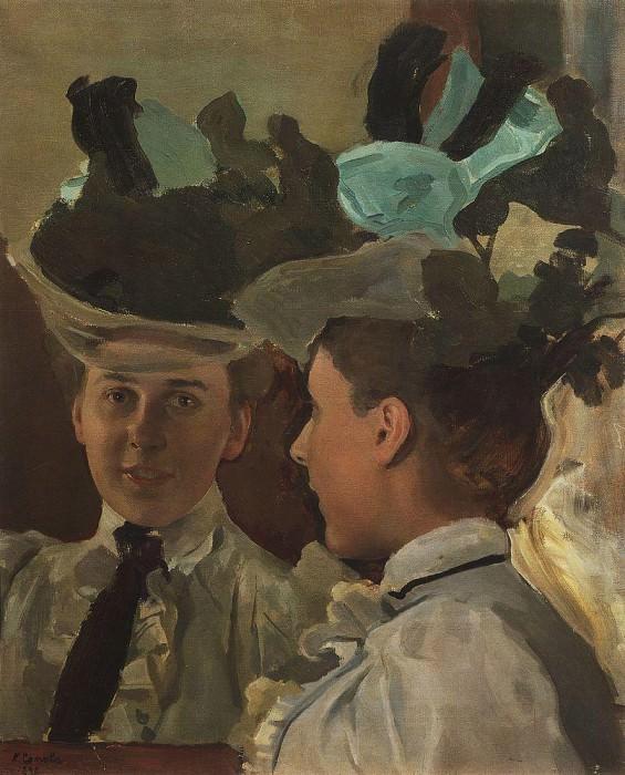 lady of the mirror (Portrait of VV Tsemirovoy). 1898. Konstantin Andreevich (1869-1939) Somov