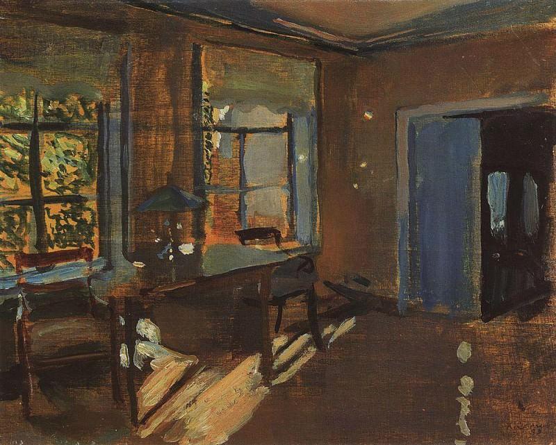 Interior dacha Pavlov. 1899. Konstantin Andreevich (1869-1939) Somov