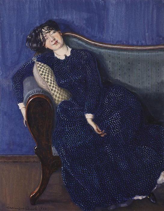 Rendezvous. 1910. Konstantin Andreevich (1869-1939) Somov
