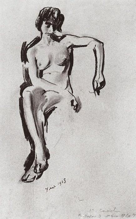 Натурщица. 1903. Сомов Константин Андреевич (1869-1939)