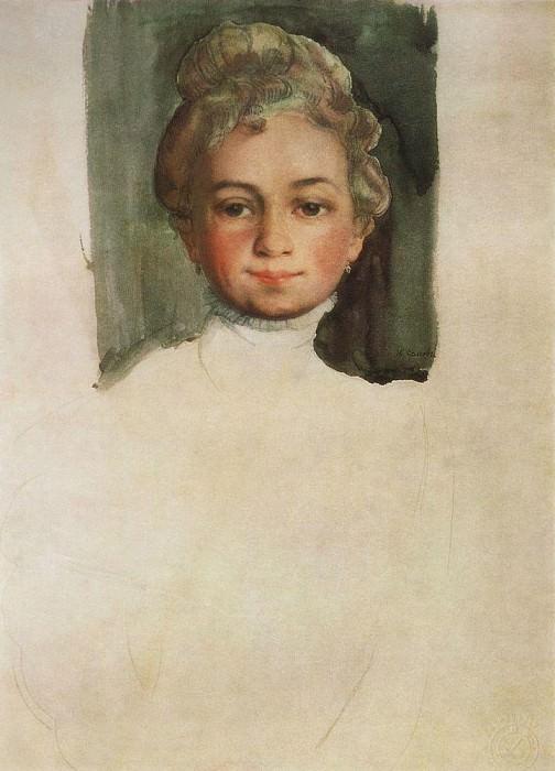 Head girl (EE Vladimir). 1908. Konstantin Andreevich (1869-1939) Somov
