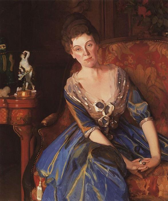 Portrait GL Ghirshman. 1910-1911. Konstantin Andreevich (1869-1939) Somov