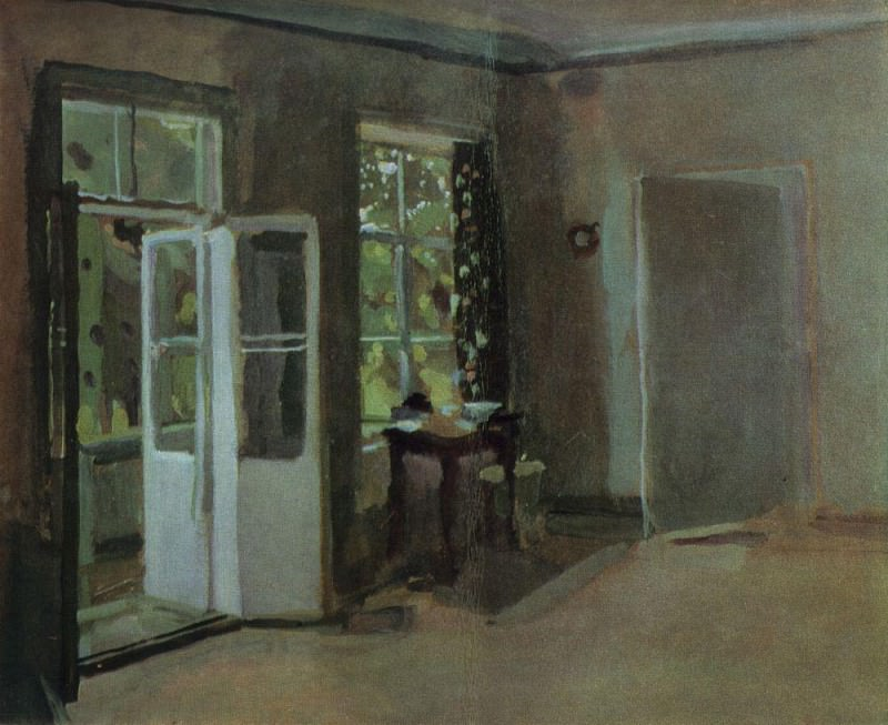 Interior. The second half of 1890. Konstantin Andreevich (1869-1939) Somov